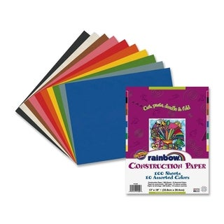 Rainbow Super Value Construction Paper - 100/PK