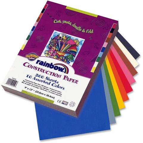Pacon Rainbow Super Value Construction Paper - 200/PK