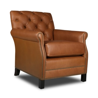Pasadena Tufted Italian Leather Chair
