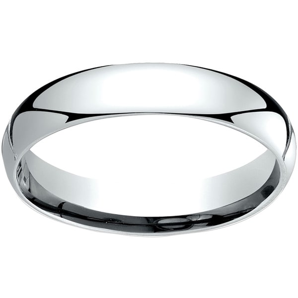 18k White Gold 4mm Comfort Fit Wedding Band