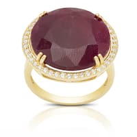Dolce Giavonna Sterling Silver Gemstone Circle Ring