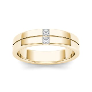 De Couer 14k Yellow Gold 1/5ct TDW Diamond Men's Band - White https://ak1.ostkcdn.com/images/products/10339662/P17449147.jpg?_ostk_perf_=percv&impolicy=medium