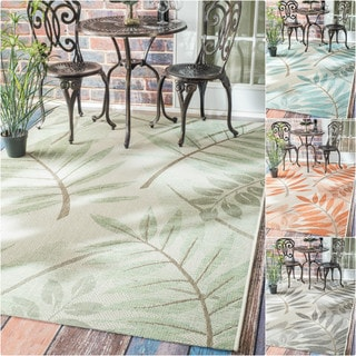 nuLOOM Modern Floral Outdoor/ Indoor Porch Rug (7'10 x 11'2)