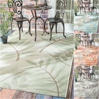 nuLOOM Modern Floral Outdoor/ Indoor Porch Rug - 7'10 x 11'2
