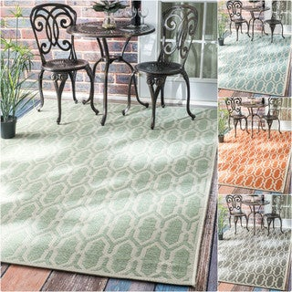nuLOOM Modern Trellis Outdoor/ Indoor Porch Rug (7'10 x 11'2)