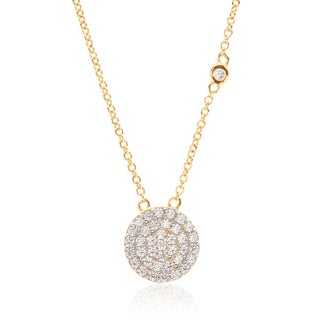 Blue Box Jewels Goldplated Sterling Silver Cubic Zirconia Round Necklace