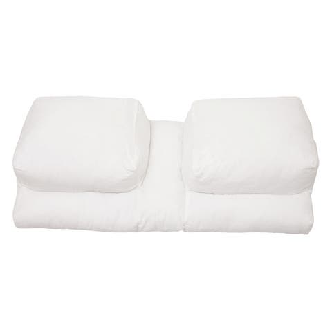 Better Sleep Pillow Goose Down Pillow - Patented Arm-Tunnel Design - Perfect Side and Stomach Sleeper Pillow - Bed Pillow, White
