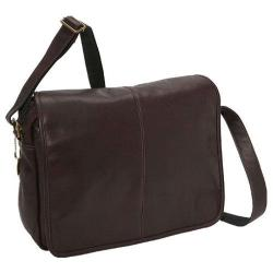 David King Leather Cafe Flapover Messenger Bag