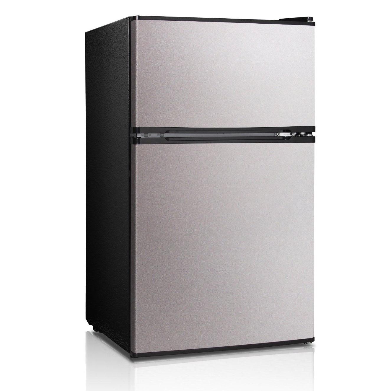 Midea 3.1 Cu. Ft. Double Door Compact Refrigerator/Freeze...