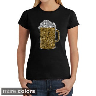 LA Pop Art Women's Beer Cotton T-shirt