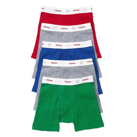 Hanes Toddler Boy's 5-pack Boxer Briefs with Comfort Flex Waistband