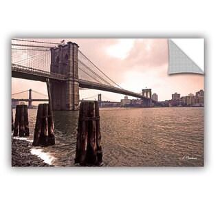 ArtAppealz Linda Parker 'Brooklyn Bridge At Sunset' Removable Wall Art