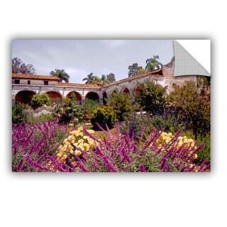 ArtAppealz Linda Parker 'Gardens Of Mission San Juan Capistrano' Removable Wall Art