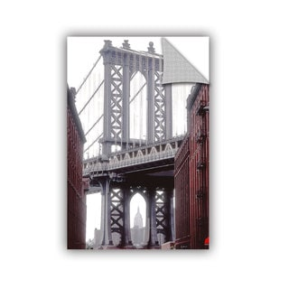 ArtAppealz Linda Parker 'Manhattan Bridge With With Empire' Removable Wall Art