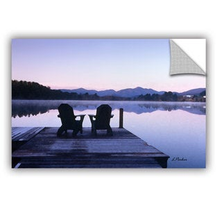 ArtAppealz Linda Parker 'Mirror Lake, Lake Placid(Chairs)' Removable Wall Art