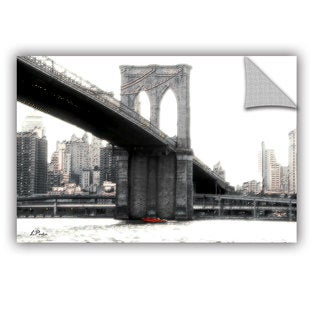 ArtAppealz Linda Parker 'Nyc'S Brooklyn Bridge' Removable Wall Art