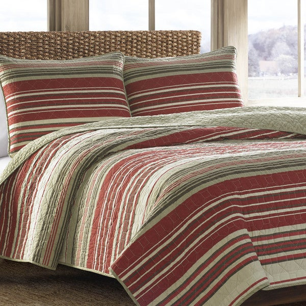 Eddie Bauer Yakima Valley Red 3-piece Quilt Set. Opens flyout.