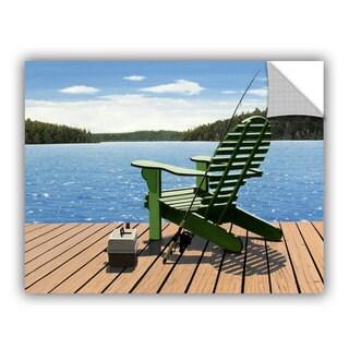 ArtAppealz Ken Kirsch 'Fishing Chair' Removable Wall Art