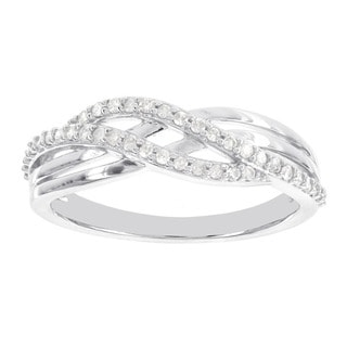 H Star Sterling Silver 1/5ct TDW Diamond Wave Ring (H-I, I1-I2)