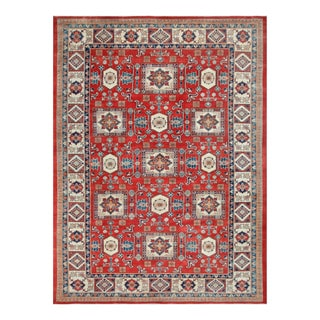 Herat Oriental Afghan Hand-knotted Tribal Vegetable Dye Super Kazak Wool Rug (10' x 13'7)