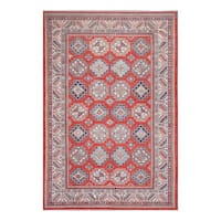 Herat Oriental Afghan Hand-knotted Tribal Vegetable Dye Super Kazak Wool Rug (8'7 x 12'11) - 8'7 x 12'11