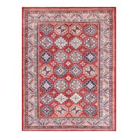 Herat Oriental Afghan Hand-knotted Tribal Vegetable Dye Super Kazak Wool Rug (9' x 12') - 9' x 12'