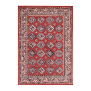 Herat Oriental Afghan Hand-knotted Tribal Vegetable Dye Super Kazak Wool Rug (8'8 x 12'8)
