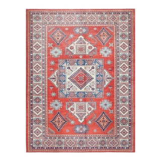 Herat Oriental Afghan Hand-knotted Tribal Vegetable Dye Super Kazak Wool Rug (8'9 x 11'9)