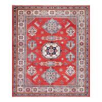 Herat Oriental Afghan Hand-knotted Tribal Vegetable Dye Super Kazak Wool Rug (8'2 x 9'9)