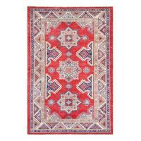 Herat Oriental Afghan Hand-knotted Tribal Vegetable Dye Super Kazak Wool Rug (5'3 x 8')