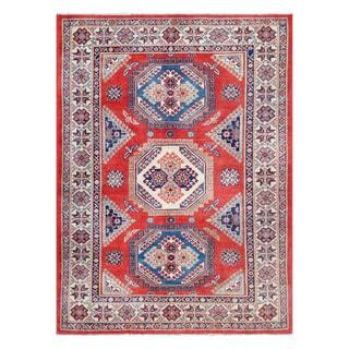 Herat Oriental Afghan Hand-knotted Tribal Vegetable Dye Super Kazak Wool Rug (5'7 x 7'5)