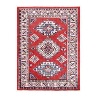Herat Oriental Afghan Hand-knotted Tribal Vegetable Dye Super Kazak Wool Rug (4'9 x 6'2)