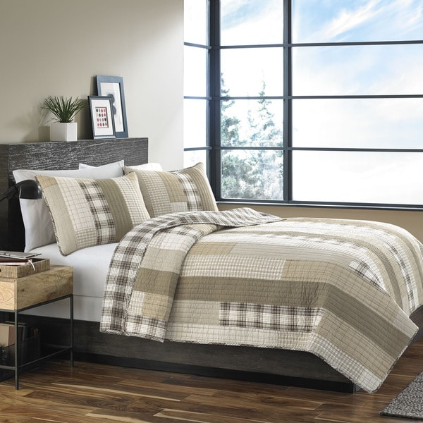 Eddie Bauer Fairview Sand 3-piece Quilt Set