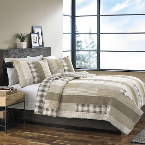 Eddie Bauer Fairview Sand 3-piece Quilt Set