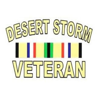 Desert Storm Veteran Car Decal