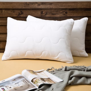 Grandeur Collection Coolmax Wicking Performance Quilted Pillow Protector (Set of 2)