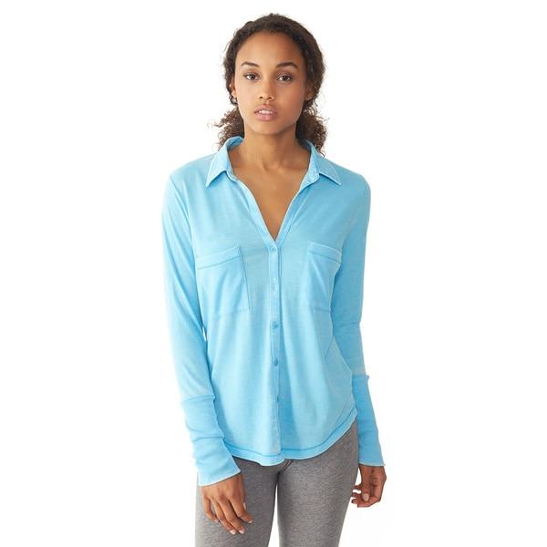 Alternative Women's Aqua Everyday Button-Up