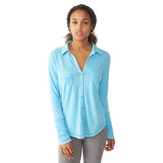 Alternative Women's Aqua Everyday Button-Up