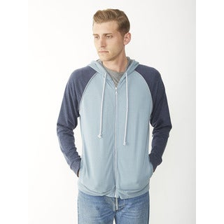 Alternative Men's Light French Terry Blue Zip Hoodie