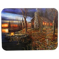 Rivers Edge Products Cutting Board Cabin Scene
