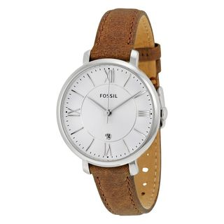 Fossil Women's Jacqueline Silver Dial Brown Leather Strap Quartz Watch ES3708|https://ak1.ostkcdn.com/images/products/10340836/P17450242.jpg?_ostk_perf_=percv&impolicy=medium