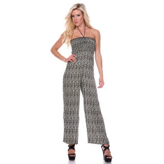 Stanzino Women's Printed Smocked Jumpsuit