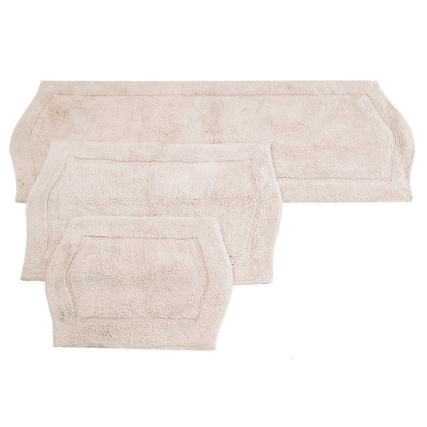 Waterford Rug 3 Piece Bath Rug Set in Natural