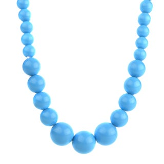 Crummy Bunny Little Girl Blue Acrylic Bead Necklace