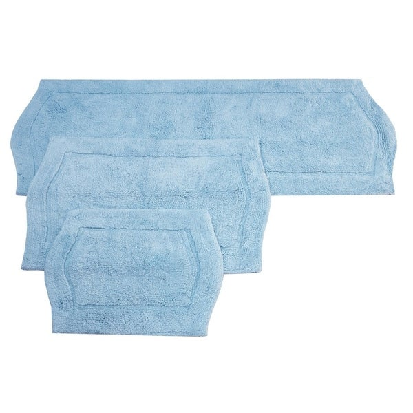 Waterford Rug 3 Piece Bath Rug Set in Blue