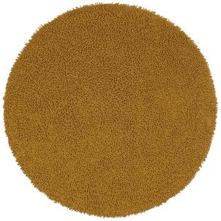 Gold Shagadelic Chenille Twist Round Rug (5' x 5')