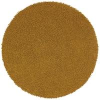 Gold Shagadelic Chenille Twist Round Rug (5' x 5') - 5'