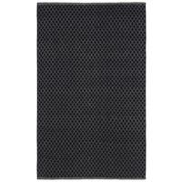 Black Jute Trellis Flat Weave Rug (5' x 8') - 5' x 8'