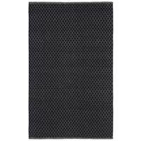 Black Jute Trellis Flat Weave Rug - 8' x 10'