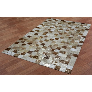 Gold Splash Leather Hair-On Hide Matador Rug (8' x 10')